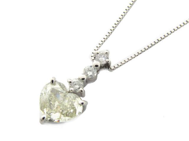 【中古】【送料無料】ジュエリー ダイヤモンド ネックレス レディース PT850 プラチナ x PT900 プラチナ x ダイヤモンド(1.365ct 0.21ct) | JEWELRY ネックレス ダイヤ ダイヤモンド 美品 ブランドオフ BRANDOFF 美品 ボーナス