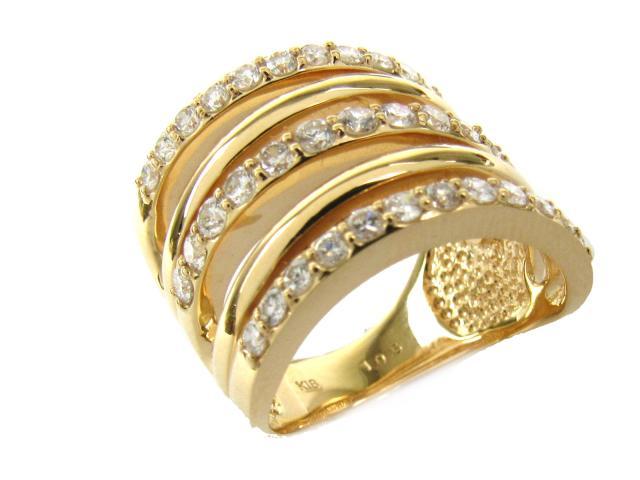 【中古】【送料無料】ジュエリー ダイヤモンド リング 指輪 レディース K18YG(750) イエローゴールド x ダイヤモンド(1.050ct) | JEWELRY リング リング K18 18K 18金 ダイヤ ダイヤモンド 美品 ブランドオフ BRANDOFF 美品 ボーナス