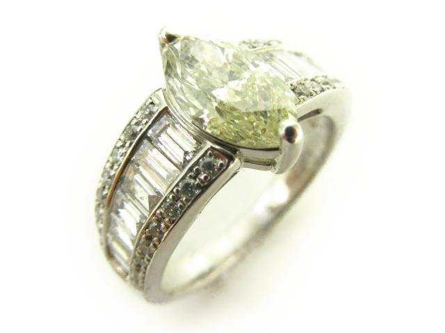 【中古】【送料無料】ジュエリー ダイヤリング 指輪 レディース PT900 プラチナ× ダイヤモンド (1.095 D0.74ct) クリアー | JEWELRY リング リング ダイヤ ダイヤモンド 美品 ブランドオフ BRANDOFF 美品 ボーナス