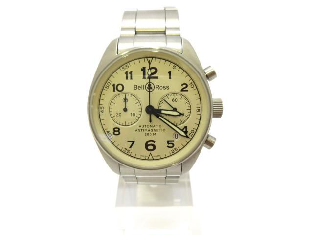 【中古】【送料無料】ベル&ロス ヴィンテージクロノ ウォッチ 腕時計 ステンレススチール(SS) (126.A) | Bell & Ross オートマチック 自動巻き WATCH 美品 ブランド ブランドオフ BRANDOFF