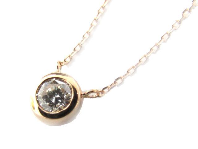 【送料無料】 ジュエリー ダイヤモンド ネックレス レディース K18PG(750) ピンクゴールド x ダイヤモンド(0.17ct) | JEWELRY ネックレス K18 18K 18金 ダイヤ ダイヤモンド 新品 ブランドオフ BRANDOFF ボーナス