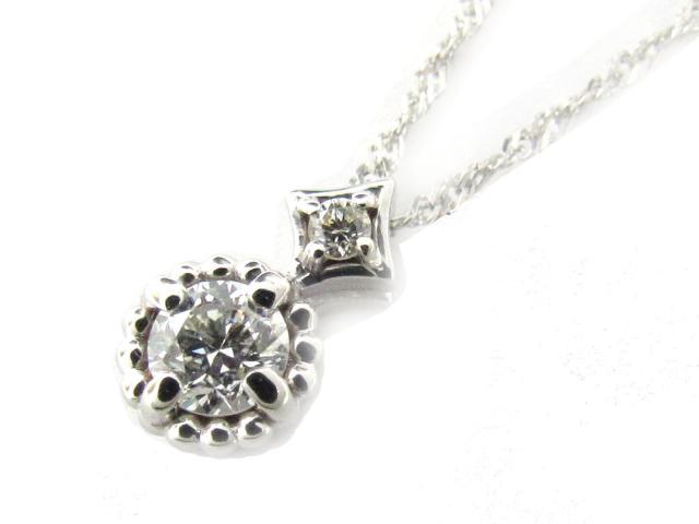 【送料無料】 ジュエリー ダイヤモンド ネックレス レディース K18WG(750) ホワイトゴールド x ダイヤモンド(0.18ct) | JEWELRY ネックレス K18 18K 18金 ダイヤ ダイヤモンド 新品 ブランドオフ BRANDOFF ボーナス