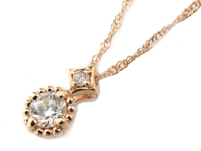 【送料無料】 ジュエリー ダイヤモンド ネックレス レディース K18PG(750) ピンクゴールド x ダイヤモンド(0.18ct) | JEWELRY ネックレス K18 18K 18金 ダイヤ ダイヤモンド 新品 ブランドオフ BRANDOFF ボーナス