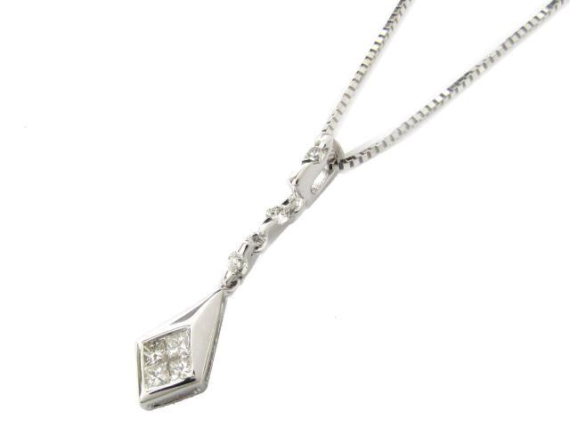 【送料無料】 ジュエリー ダイヤモンド ネックレス レディース K18WG(750) ホワイトゴールド x ダイヤモンド(0.30ct) | JEWELRY ネックレス K18 18K 18金 ダイヤ ダイヤモンド 新品 ブランドオフ BRANDOFF ボーナス