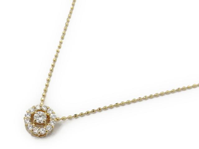 【送料無料】 ジュエリー ダイヤモンド ネックレス レディース K18YG(750) イエローゴールド x ダイヤモンド0.20ct | JEWELRY ネックレス K18 18K 18金 ダイヤ ダイヤモンド 新品 ブランドオフ BRANDOFF ボーナス