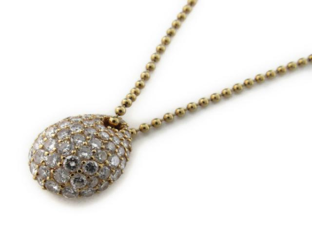 【中古】【送料無料】ジュエリー ダイヤモンド ネックレス レディース K18YG(750) イエローゴールド x ダイヤモンド2.54ct | JEWELRY ネックレス K18 18K 18金 ダイヤ ダイヤモンド 美品 ブランドオフ BRANDOFF 美品 ボーナス