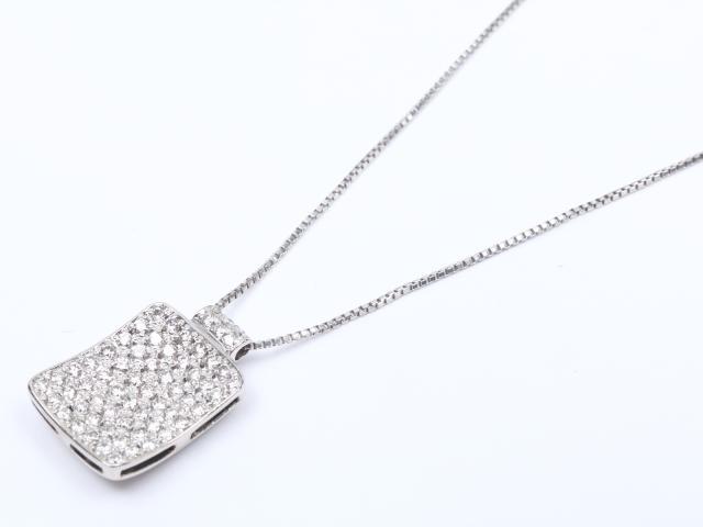 【中古】【送料無料】ジュエリー ダイヤモンド ネックレス レディース PT900 プラチナ x PT850 プラチナ x ダイヤモンド (0.83ct) | JEWELRY ネックレス ダイヤ ダイヤモンド 美品 ブランドオフ BRANDOFF 美品 ボーナス