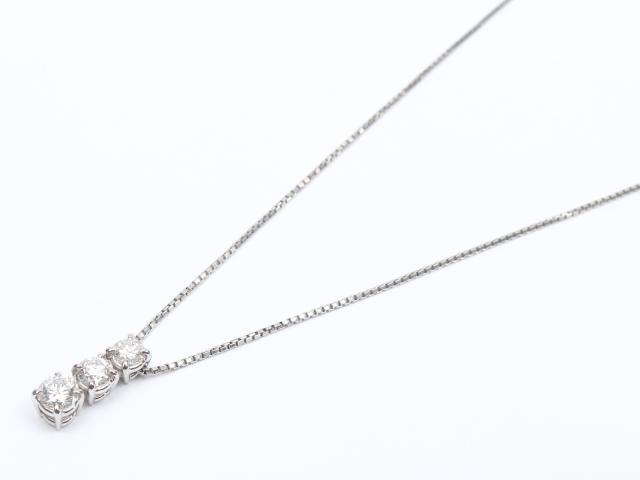 【中古】【送料無料】ジュエリー ダイヤモンド ネックレス レディース PT900 プラチナ x PT850 プラチナ x ダイヤモンド (0.50ct)   JEWELRY ネックレス ダイヤ ダイヤモンド 美品 ブランドオフ BRANDOFF 美品 ボーナス