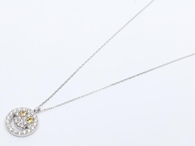 【中古】【送料無料】ジュエリー ダイヤモンド サファイア ネックレス レディース K18WG(750) ホワイトゴールド x ダイヤモンド (0.30ct) x サファイア (0.08ct) | JEWELRY ネックレス K18 18K 18金 ダイヤ ダイヤモンド 美品 ブランドオフ BRANDOFF 美品 ボーナス