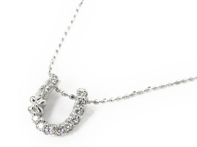 【送料無料】 ジュエリー ダイヤモンド ネックレス レディース K18WG(750) ホワイトゴールド x ダイヤモンド0.10ct | JEWELRY ネックレス K18 18K 18金 ダイヤ ダイヤモンド 新品 ブランドオフ BRANDOFF ボーナス