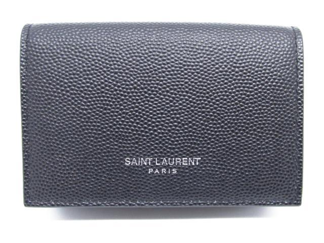【中古】【送料無料】サン・ローラン Wホック財布 牛革(カーフ) ブラック (459784) | Saint Laurent 財布 美品 ブランド ブランドオフ BRANDOFF
