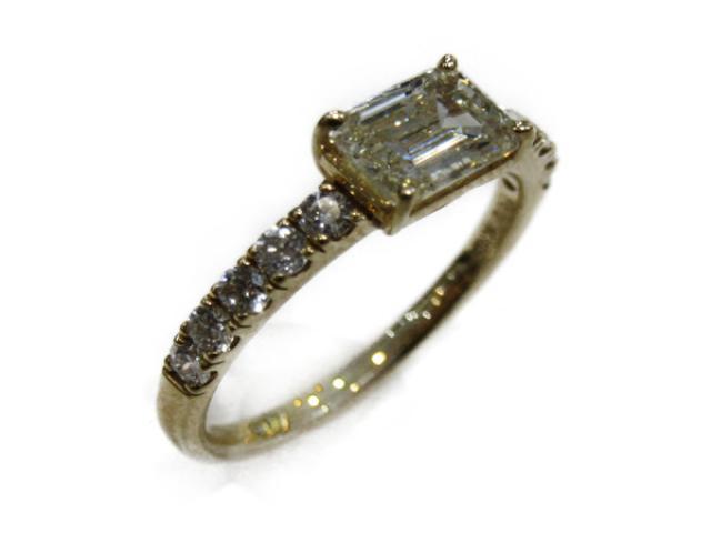 【中古】【送料無料】ジュエリー ダイヤモンド リング 指輪 レディース K18YG(750) イエローゴールドx ダイヤモンド(0.34ct 1.02ct3)   JEWELRY リング リング K18 18K 18金 ダイヤ ダイヤモンド 美品 ブランドオフ BRANDOFF 美品 ボーナス