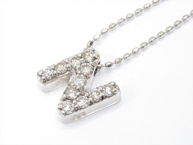 【中古】ジュエリー ダイヤモンドネックレス レディース K18WG(750) ホワイトゴールドxダイヤモンド(0.25ct) | JEWELRY ネックレス K18 18K 18金 ダイヤ ダイヤモンド 美品 ブランドオフ BRANDOFF 美品 ボーナス