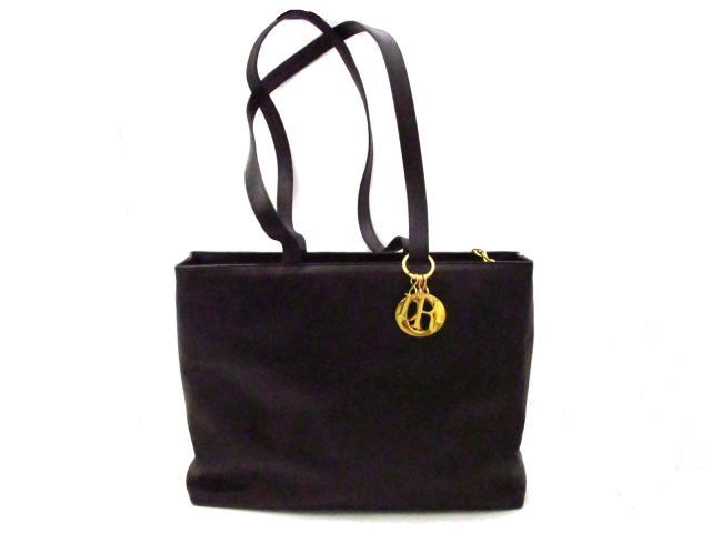 【中古】【送料無料】クリスチャン・ディオール ショルダーバッグ トートバッグ レディース レザー ブラック 金具:ゴールド | Dior ショルダー 肩掛け バッグ バック BAG 鞄 カバン ブランドバッグ ブランド ブランドオフ BRANDOFF