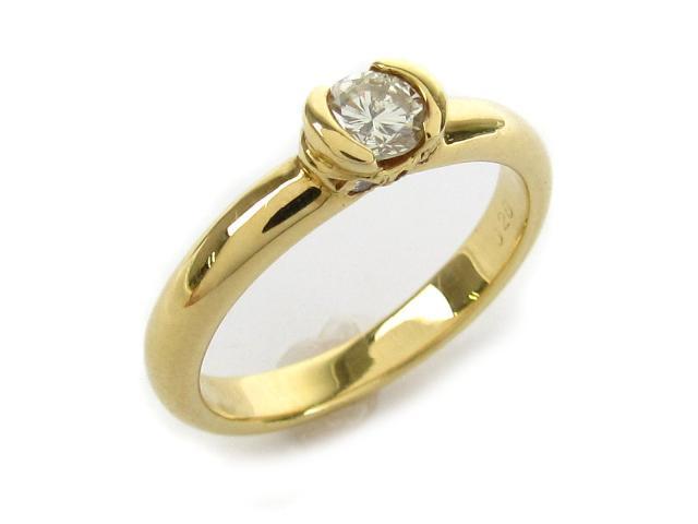 【中古】【送料無料】ジュエリー ダイヤモンド リング 指輪 レディース K18 x ダイヤモンド0.28 0.04ct | JEWELRY リング リング K18 18K 18金 ダイヤ ダイヤモンド 美品 ブランドオフ BRANDOFF 美品 ボーナス