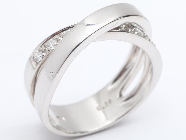 【中古】【送料無料】ジュエリー ダイヤモンド リング 指輪 レディース K18WG(750) ホワイトゴールド x ダイヤモンド (0.19ct) | JEWELRY リング リング K18 18K 18金 ダイヤ ダイヤモンド 美品 ブランドオフ BRANDOFF 美品 ボーナス