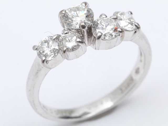 【中古】【送料無料】ジュエリー ダイヤモンド リング 指輪 レディース K18WG(750) ホワイトゴールド x ダイヤモンド(0.29ct 0.68ct)   JEWELRY リング リング K18 18K 18金 ダイヤ ダイヤモンド 美品 ブランドオフ BRANDOFF 美品 ボーナス