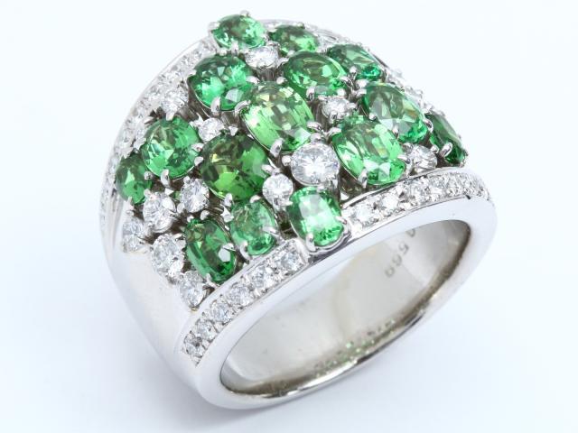 【中古】【送料無料】ジュエリー ガーネット ダイヤモンド リング 指輪 レディース PT900 プラチナ x ガーネット (5.69ct) x ダイヤモンド (1.57ct) | JEWELRY リング Ring 指輪 アクセサリー ブランドオフ BRANDOFF 美品 ボーナス
