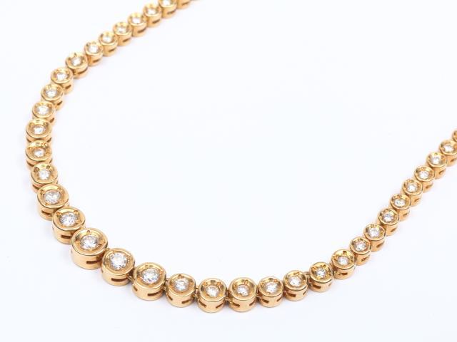 【中古】【送料無料】ジュエリー ダイヤモンド ネックレス レディース K18YG(750) イエローゴールド x ダイヤモンド(3.00ct) | JEWELRY ネックレス K18 18K 18金 ダイヤ ダイヤモンド 美品 ブランドオフ BRANDOFF 美品 ボーナス
