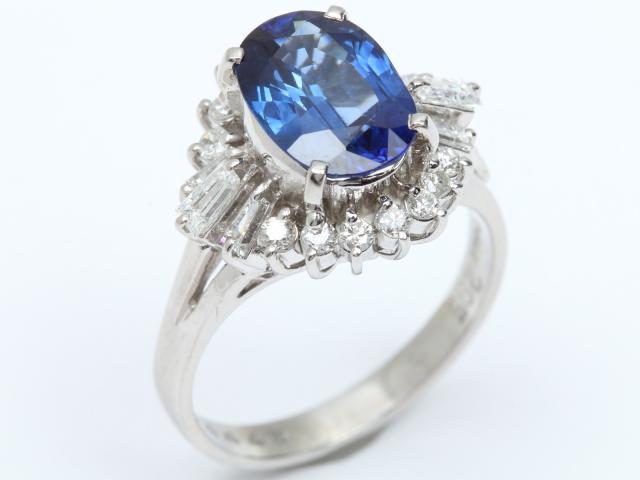 【中古】【送料無料】ジュエリー サファイア ダイヤモンド リング 指輪 レディース PT900 プラチナ x サファイア(2.95ct) x ダイヤモンド(0.61ct) | JEWELRY リング Ring 指輪 アクセサリー ブランドオフ BRANDOFF 美品 ボーナス