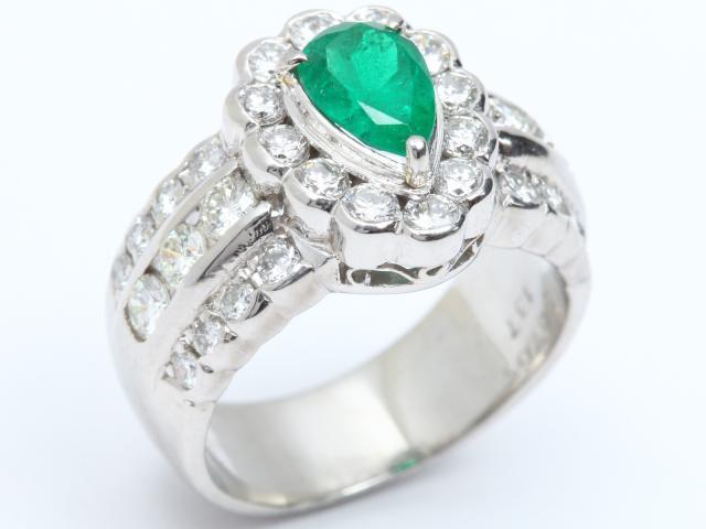【中古】【送料無料】ジュエリー エメラルド ダイヤモンド リング 指輪 レディース PT900 プラチナ x エメラルド(0.765ct) x ダイヤモンド(1.37ct) | JEWELRY リング Ring 指輪 アクセサリー ブランドオフ BRANDOFF 美品 ボーナス