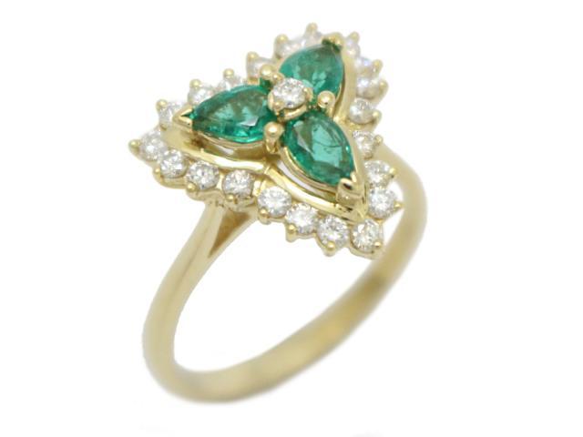 【中古】【送料無料】ジュエリー エメラルド ダイヤモンド リング 指輪 レディース K18YG(750) イエローゴールド×エメラルド×ダイヤモンド(石目なし) | JEWELRY リング Ring 指輪 アクセサリー ブランドオフ BRANDOFF 美品 ボーナス