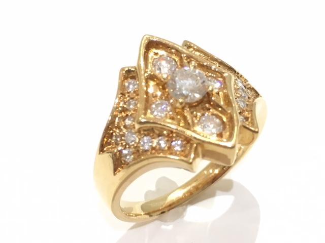 【中古】【送料無料】タサキ ダイヤリング 指輪 ジュエリー TASAKI レディース K18YG(750) イエローゴールド×ダイヤモンド(0.63ct)   TASAKI リング Ring 指輪 ブランドジュエリー ブランドアクセサリー アクセサリー ブランドオフ BRANDOFF 美品 ボーナス