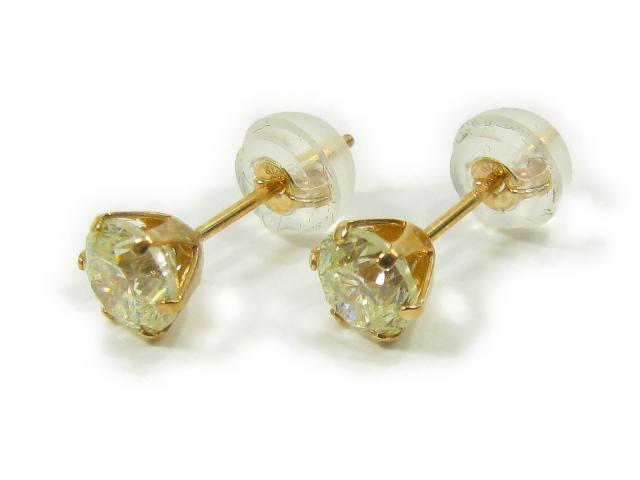 【中古】【送料無料】ジュエリー 一粒ダイヤモンドピアス メンズ K18PG(750) ピンクゴールド x ダイヤモンド x (D0.5ct x 2) | JEWELRY ピアス 一粒ダイヤ 0.5g K18 18K 18金 ダイヤ ダイヤモンド 美品 ブランドオフ BRANDOFF 美品 ボーナス
