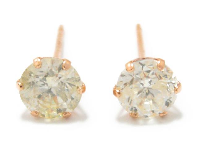 【中古】【送料無料】ジュエリー 一粒 ダイヤモンド ピアス K18PG(750) ピンクゴールド x ダイヤモンド (0.50ct x 0.50ct) | JEWELRY ピアス 一粒ダイヤ 0.5g メンズ レディース K18 18K 18金 ダイヤ ダイヤモンド 美品 ブランドオフ BRANDOFF 美品 ボーナス