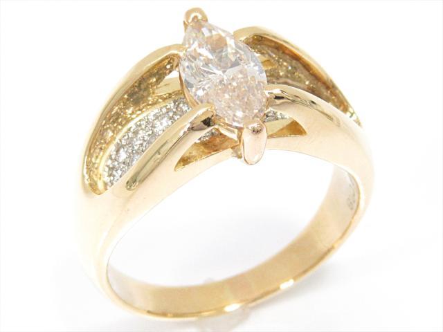 【中古】【送料無料】ジュエリー ダイヤモンドリング 指輪 レディース K18YG(750) イエローゴールドxPT900(プラチナ)xダイヤモンド(1.06 0.28ct) | JEWELRY リング リング K18 18K 18金 ダイヤ ダイヤモンド 美品 ブランドオフ BRANDOFF 美品 ボーナス