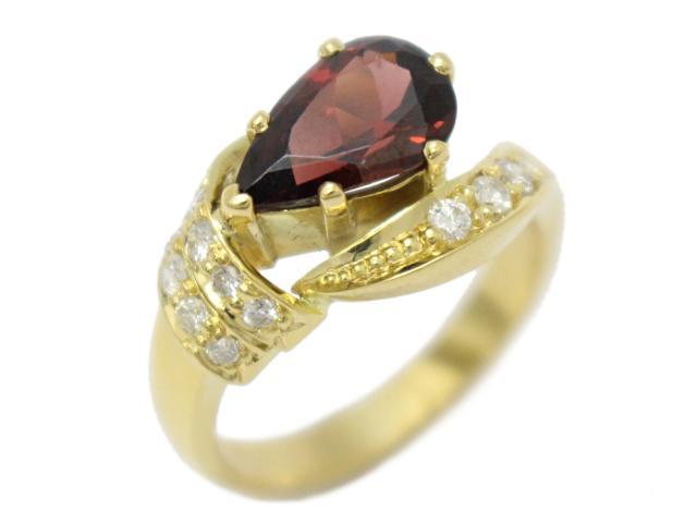 【中古】【送料無料】ジュエリー ガーネット ダイヤモンド リング 指輪 レディース K18YG(750) イエローゴールド×ガーネット×ダイヤモンド ゴールド | JEWELRY リング Ring 指輪 アクセサリー ブランドオフ BRANDOFF 美品 ボーナス