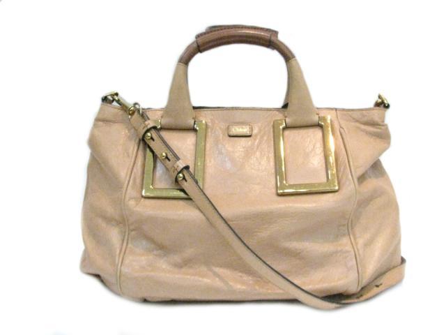 【中古】クロエ エテル 2wayハンドバッグ レディース レザー ベージュ (3S0646) | Chloe ハンドバッグ バッグ バック BAG 鞄 カバン ブランドバッグ ブランド ブランドオフ BRANDOFF