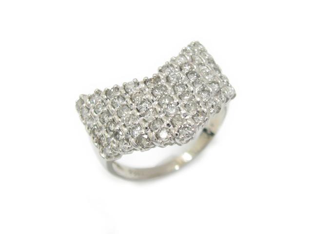 【中古】【送料無料】ジュエリー ダイヤモンド リング 指輪 PT900 プラチナ x ダイヤモンド (1.03ct) | JEWELRY リング ダイヤモンドリング メンズ レディース ダイヤ ダイヤモンド 美品 ブランドオフ BRANDOFF 美品 ボーナス