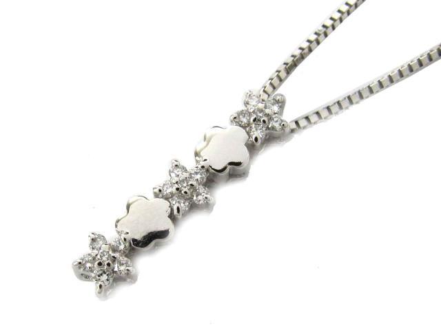【送料無料】ジュエリー ダイヤモンド ネックレス レディース K18WG(750) ホワイトゴールド x ダイヤモンド(0.16ct) | JEWELRY ネックレス K18 18K 18金 ダイヤ ダイヤモンド 新品 ブランドオフ BRANDOFF ボーナス