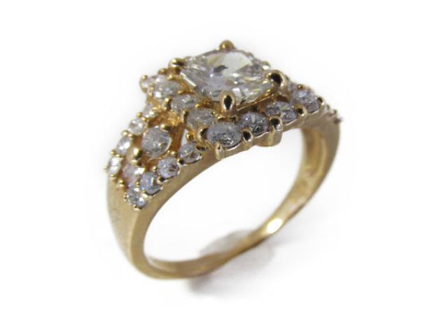 【中古】【送料無料】ジュエリー ダイヤモンドリング 指輪 レディース K18YG(750)イエローゴールド×ダイヤモンド(0.61 0.78ct) ゴールド | JEWELRY リング ダイヤリング K18 18K 18金 ダイヤ ダイヤモンド 美品 ブランドオフ BRANDOFF 美品 ボーナス