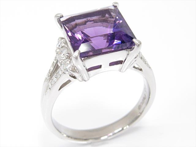 【中古】【送料無料】ジュエリー アメジストリング 指輪 レディース PT900 プラチナxアメジスト(4.95ct)xダイヤモンド(0.41ct) | JEWELRY リング リング ダイヤ ダイヤモンド 美品 ブランドオフ BRANDOFF 美品 ボーナス
