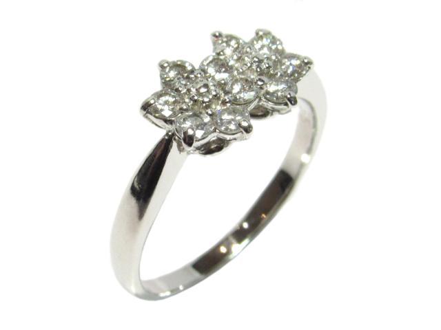 【中古】【送料無料】ジュエリー ダイヤモンドリング 指輪 レディース PT900 プラチナ0.55ct シルバー×クリアー   JEWELRY リング リング ダイヤ ダイヤモンド 美品 ブランドオフ BRANDOFF 美品 ボーナス