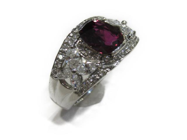 【中古】【送料無料】ジュエリー ルビー ダイヤモンド リング 指輪 レディース PT900 プラチナx ルビー(1.738ct) x ダイヤモンド(0.87ct) | JEWELRY リング リング ダイヤ ダイヤモンド 美品 ブランドオフ BRANDOFF 美品 ボーナス