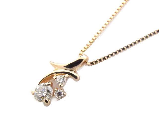 【送料無料】ジュエリー ダイヤモンド ネックレス レディース K18PG(750) ピンクゴールド x ダイヤモンド(0.15ct) | JEWELRY ネックレス K18 18K 18金 ダイヤ ダイヤモンド 新品 ブランドオフ BRANDOFF ボーナス