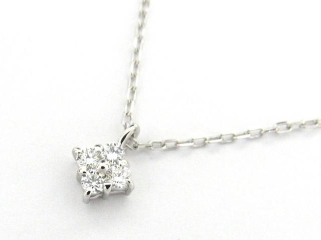 【送料無料】ジュエリー ダイヤモンド ネックレス レディース K18WG(750) ホワイトゴールド x ダイヤモンド0.13ct | JEWELRY ネックレス K18 18K 18金 ダイヤ ダイヤモンド 新品 ブランドオフ BRANDOFF ボーナス