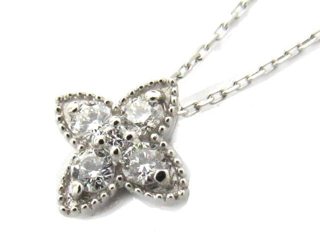 【送料無料】ジュエリー ダイヤモンド ネックレス レディース PT900 プラチナ x PT850 プラチナ x ダイヤモンド(0.14ct)   JEWELRY ネックレス ダイヤ ダイヤモンド 新品 ブランドオフ BRANDOFF ボーナス
