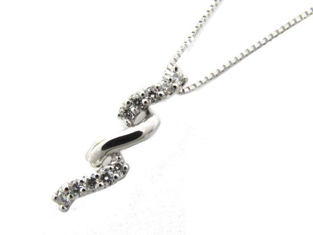 【送料無料】ジュエリー ダイヤモンド ネックレス レディース K18WG(750) ホワイトゴールド x ダイヤモンド(0.10ct) | JEWELRY ネックレス K18 18K 18金 ダイヤ ダイヤモンド 新品 ブランドオフ BRANDOFF ボーナス