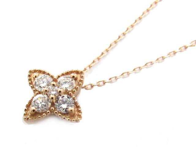 【送料無料】ジュエリー ダイヤモンド ネックレス レディース K18PG(750) ピンクゴールド x ダイヤモンド(0.14ct)   JEWELRY ネックレス K18 18K 18金 ダイヤ ダイヤモンド 新品 ブランドオフ BRANDOFF ボーナス