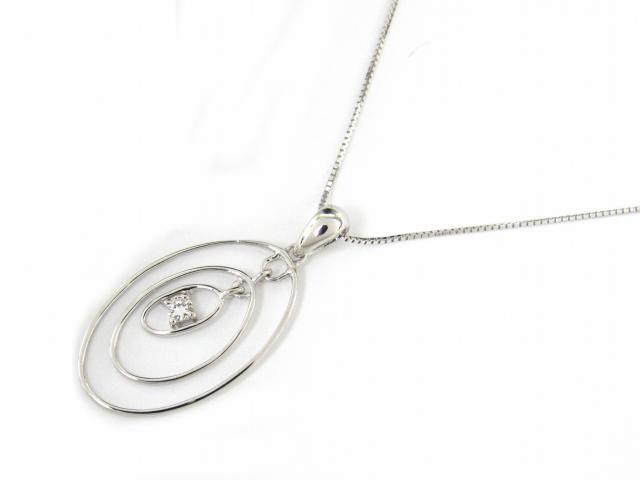 ジュエリー ダイヤモンド ネックレス レディース K18WG(750) ホワイトゴールド x ダイヤモンド0.05ct | JEWELRY ネックレス K18 18K 18金 ダイヤ ダイヤモンド 新品 ブランドオフ BRANDOFF ボーナス