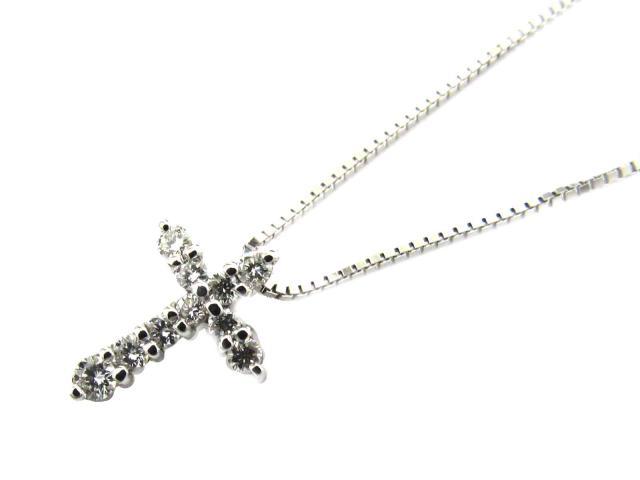 【送料無料】ジュエリー ダイヤモンド ネックレス レディース K18WG(750) ホワイトゴールド x ダイヤモンド(0.22ct) | JEWELRY ネックレス K18 18K 18金 ダイヤ ダイヤモンド 新品 ブランドオフ BRANDOFF ボーナス