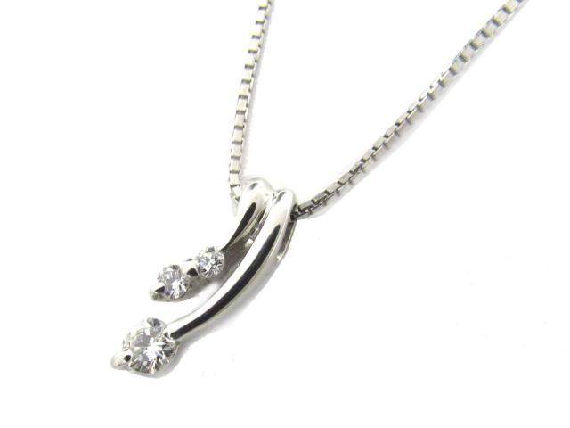 【送料無料】ジュエリー ダイヤモンド ネックレス レディース PT900 プラチナ x PT850 プラチナ x ダイヤモンド(0.10ct) | JEWELRY ネックレス ダイヤ ダイヤモンド 新品 ブランドオフ BRANDOFF ボーナス
