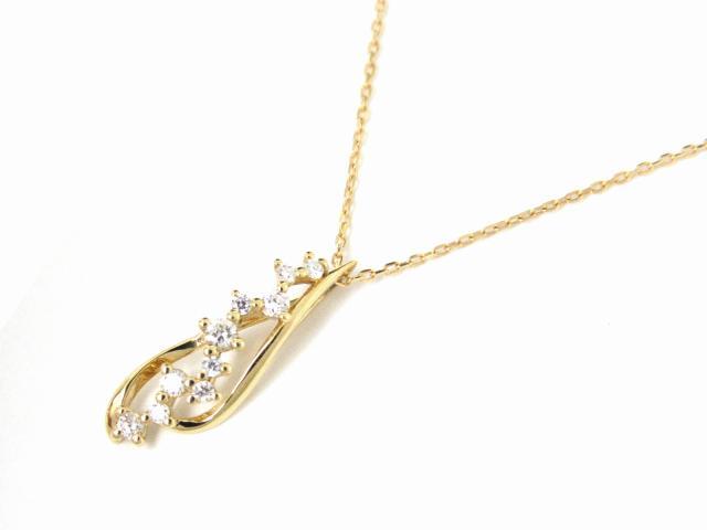 【送料無料】ジュエリー ダイヤモンド ネックレス レディース K18YG(750) イエローゴールド x ダイヤモンド0.10ct | JEWELRY ネックレス K18 18K 18金 ダイヤ ダイヤモンド 新品 ブランドオフ BRANDOFF ボーナス