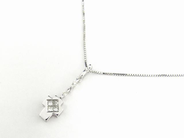 【送料無料】ジュエリー ダイヤモンド ネックレス レディース K18WG(750) ホワイトゴールド x ダイヤモンド0.30ct | JEWELRY ネックレス K18 18K 18金 ダイヤ ダイヤモンド 新品 ブランドオフ BRANDOFF ボーナス