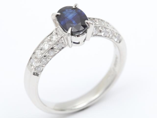 【中古】【送料無料】ジュエリー サファイア ダイヤモンド リング 指輪 レディース PT900 プラチナ x サファイア (1.04ct) x ダイヤモンド (0.36ct) | JEWELRY リング ダイヤ RING アクセサリー ブランドオフ BRANDOFF 美品 ボーナス