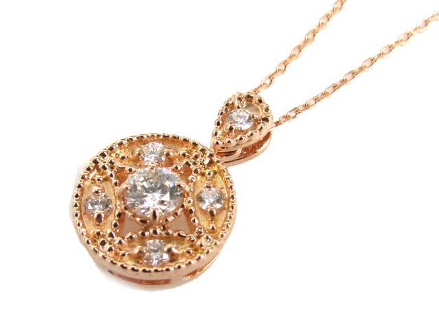 【送料無料】ジュエリー ダイヤモンド ネックレス レディース K18PG(750) ピンクゴールド x ダイヤモンド(0.20ct) | JEWELRY ネックレス K18 18K 18金 ダイヤ ダイヤモンド 新品 ブランドオフ BRANDOFF ボーナス